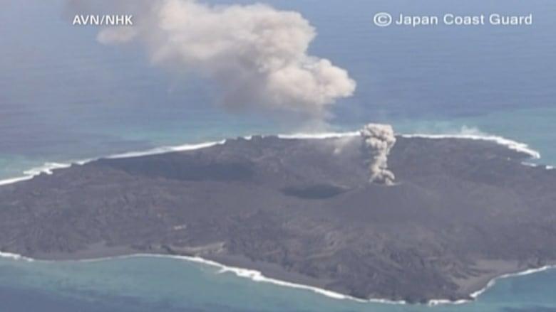 جزيرة بركانية يتضاعف حجمها 10 مرات في 15 شهرا
