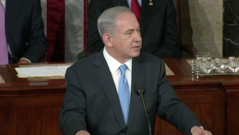 نتنياهو أمام الكونغرس: إيران مسؤولة عن إثارة الفوضى بالشرق الأوسط وتسيطر الآن على 4 عواصم عربية