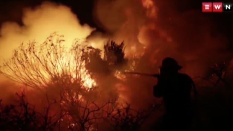 شاهد.. الحرائق المستعرة في جنوب أفريقيا