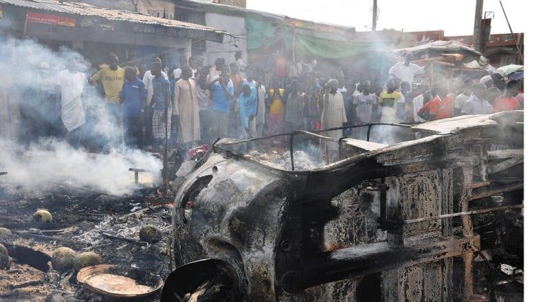 مقتل عشرات الأشخاص في 3 تفجيرات استهدفت سوقين ومحطة للحافلات بنيجيريا
