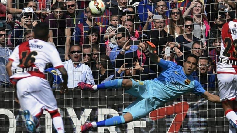 هدف رايو فاليكانو الوحيد في مباراته ضد برشلونة