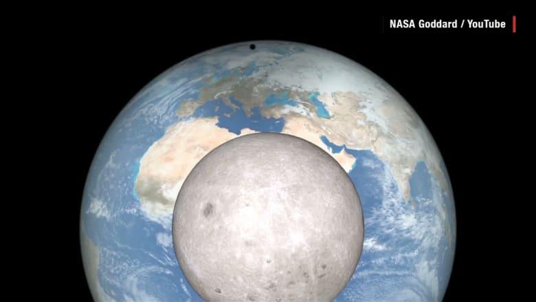 كيف يبدو كسوف الشمس من القمر؟