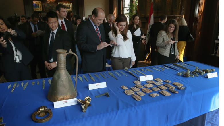 عودة آثار العراق المهربة إلى الولايات المتحدة لموطنها