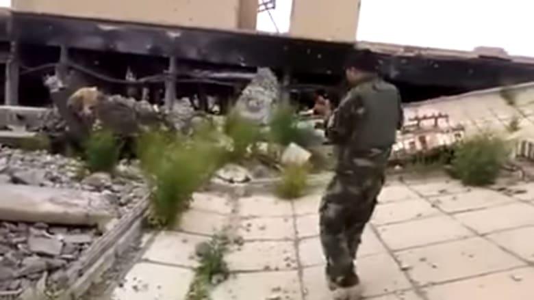 تدمير قبر صدام حسين بالقرب من تكريت