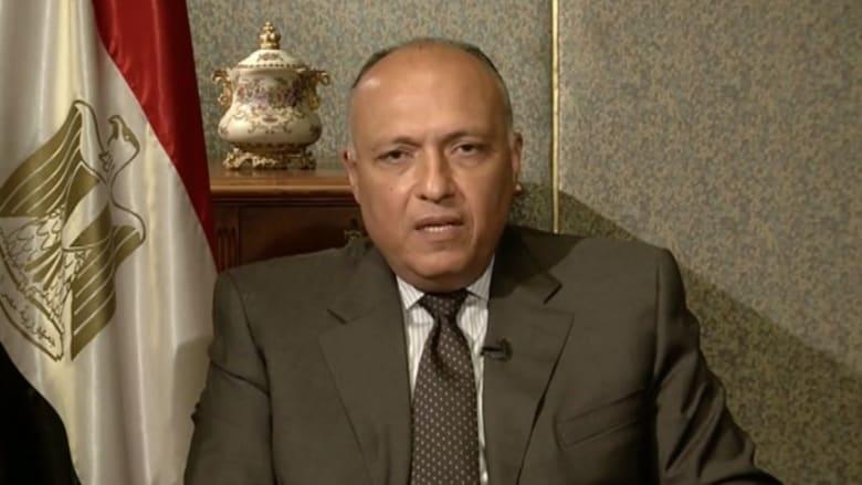 """سامح شكري: حل الدولتين بإطار زمني.. و""""داعش"""" في ليبيا بحاجة لاهتمام دولي"""