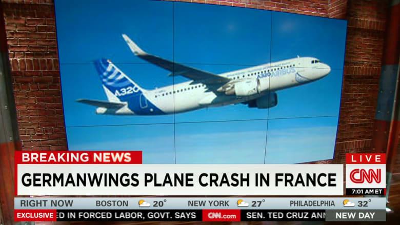 شاهد: سقوط طائرة ألمانية في فرنسا وتقارير عن اتصالات استغاثة من قمرة القيادة