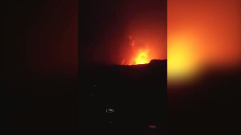 بالفيديو.. قصف في فج عطان بصنعاء