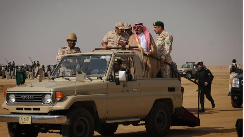 زيارة العاهل السعودي الراحل الملك عبدالله بن عبدالعزيز لجبهة القتال مع الحوثيين 2 ديسمبر/ كانون الاول 2009