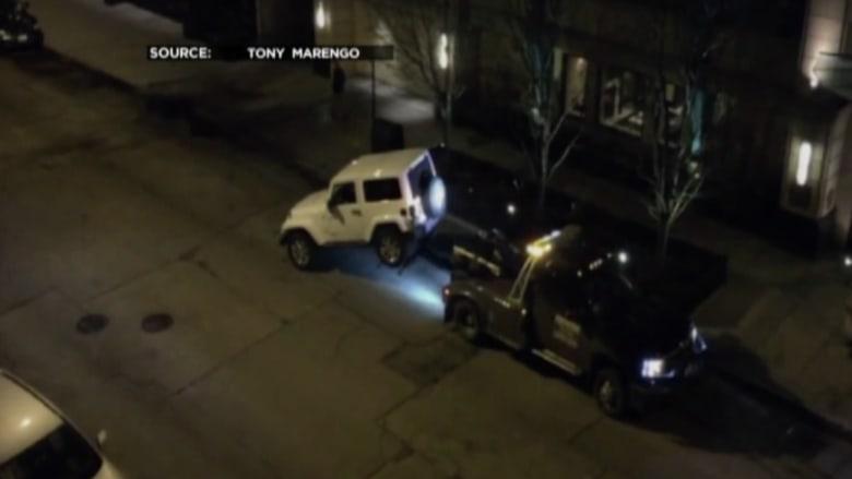 سائق يتفاجأ بقطر سيارته وهو بداخلها.. والشعار نحن نقطر بأمان