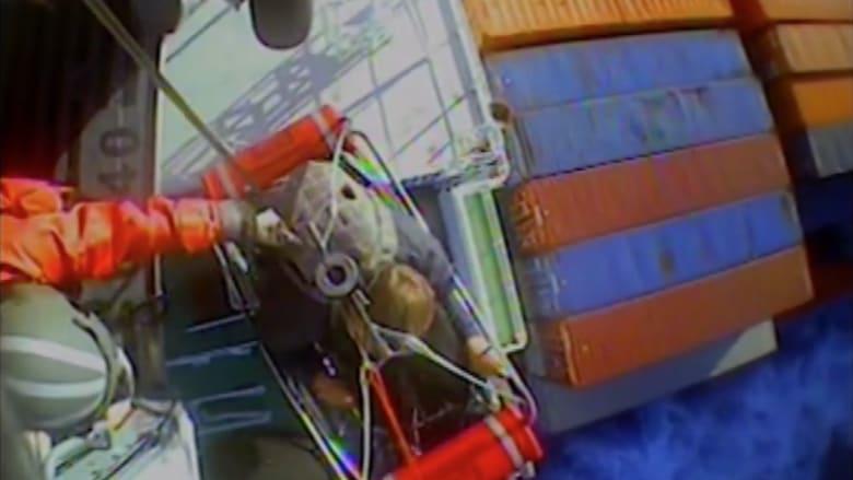 بالفيديو .. لحظة انقاذ صياد اختفى في المحيط لمدة 66 يوما