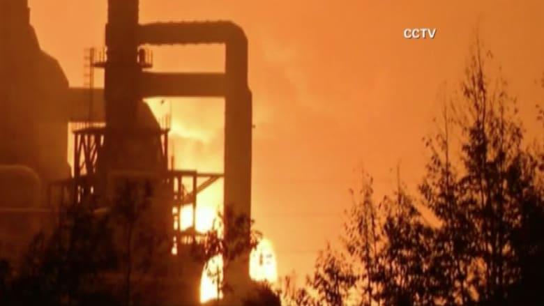 شاهد.. لحظة انفجار مصنع للكيماويات بالصين