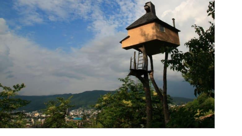 بيت الشاي الشاهق العلو