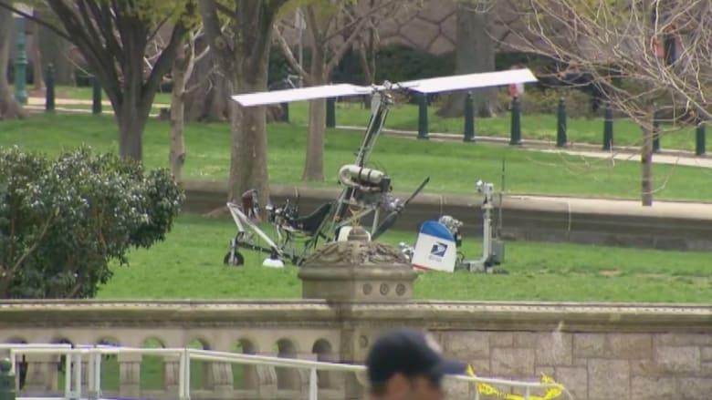 بالفيديو.. طائرة تهبط قرب الواجهة الغربية للكونغرس بواشنطن