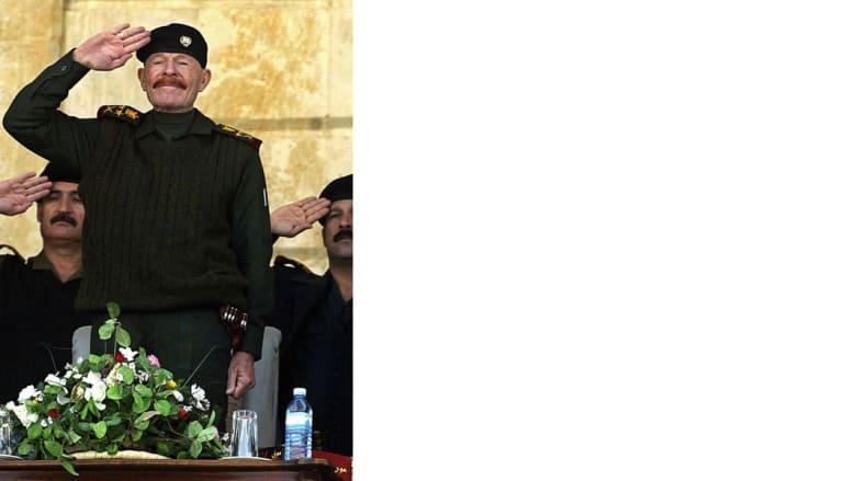 خلال استعراض عسكري في تكريت في الذكرى الأربعين لتولي حزب البعث الحكم في العراق 8 فبراير/ شباط 2003