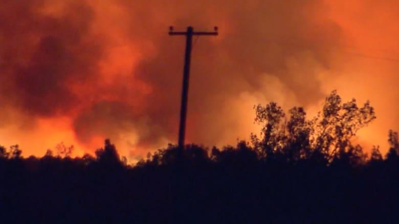 حرائق غابات تهدد سكان 300 منزل في كاليفورنيا