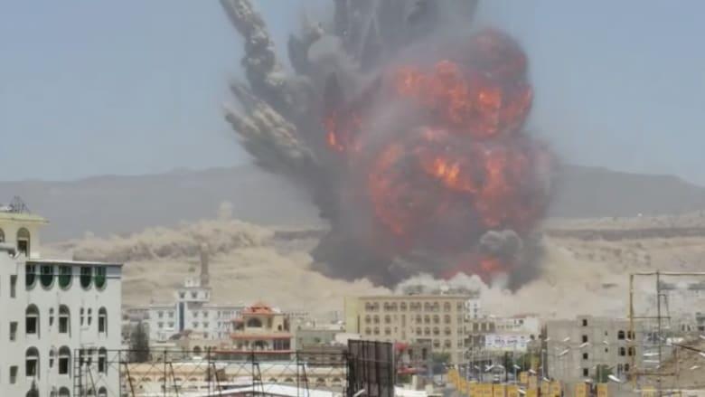 بالفيديو .. أعنف انفجار يهز صنعاء منذ بدء عاصفة الحزم .. والحوثيون: 30 قتيلا و 300 جريح