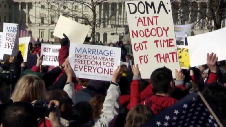 بالفيديو.. جدل حول تقرير قانون زواج المثليين بالولايات المتحدة
