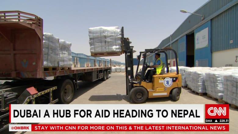 جسر جوي ينقل مئات أطنان المساعدات من دبي لضحايا زلزال نيبال