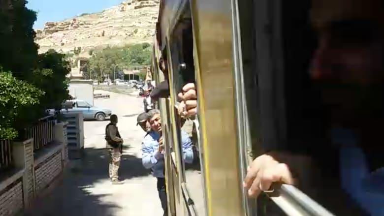 """بالفيديو.. اعادة اطلاق """"قطار المصايف"""" بدمشق بعد 4 سنوات من التوقف"""