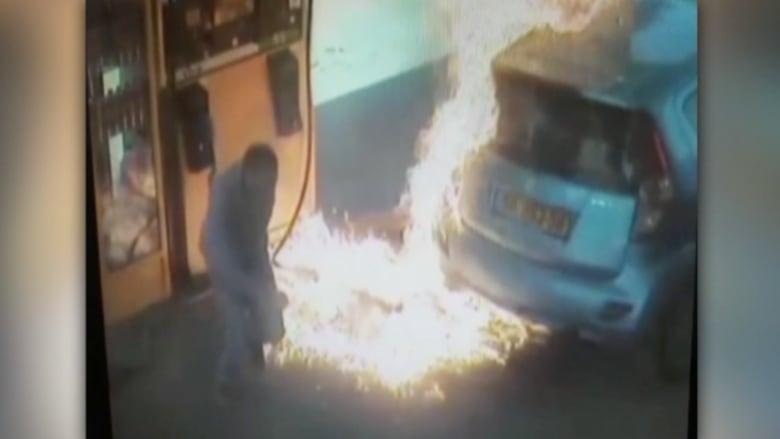 بالفيديو.. سيدة تشعل محطة للوقود لعدم حصولها على سيجارة .. وأخرى تصارع ديكاً رومياً
