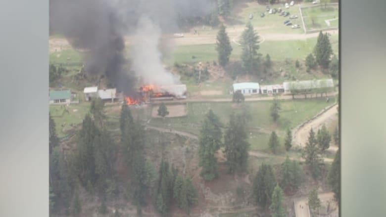 """صور حصرية لـCNN لحادثة تحطم """"مروحية الدبلوماسيين في باكستان"""""""