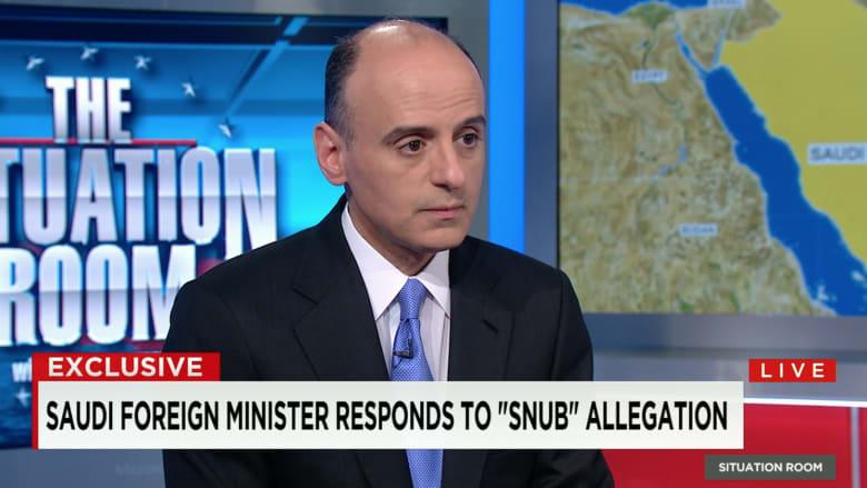 """عادل الجبير لـCNN: غياب الملك سلمان ليس رسالة لأوباما والحلف مع أمريكا """"صلب"""""""