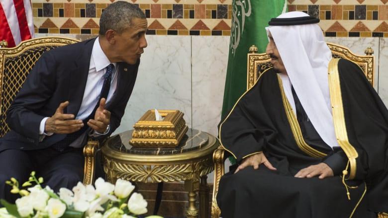 """خبير استراتيجي أمريكي لـCNN: غياب الملك سلمان عن كامب ديفيد """"رسالة توبيخ"""" لأوباما.. وأمن أمريكا القومي مهدد"""