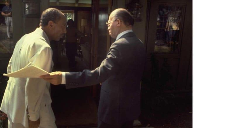 السادات وبيغن قبيل دخولهما قاعة المؤتمر الصحفي في كامب ديفيد 6 سبتمبر/ أيلول  1978