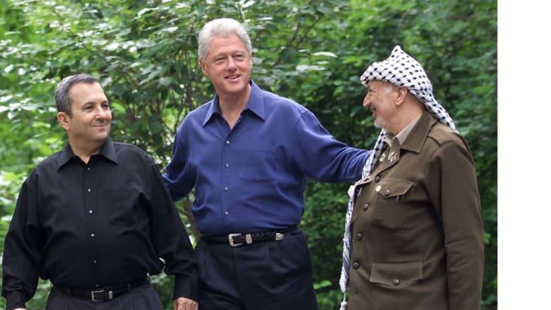 قمة ياسر عرفات وإيهود باراك برعاية بيل كلنتون
