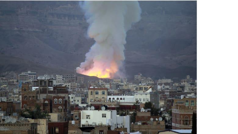 مع انتهاء المهلة الإنسانية طائرات التحالف تقصف مواقع للحوثيين في عدن