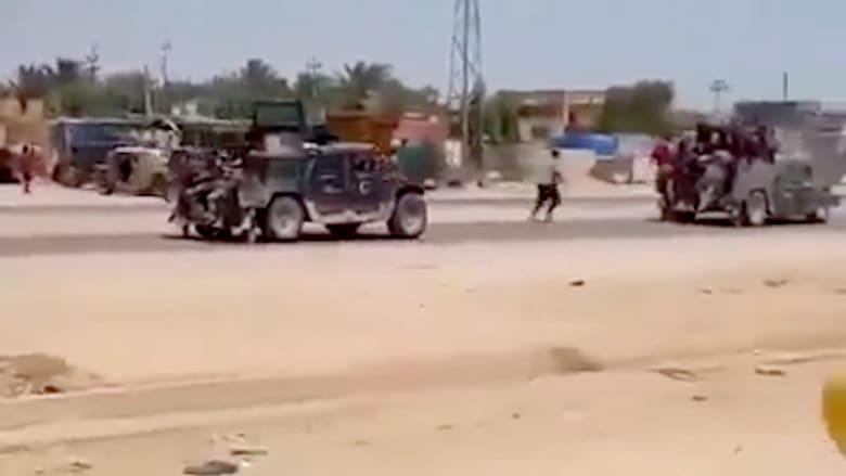 بالفيديو.. تراجع الجيش العراقي من الرمادي مع تقدم داعش