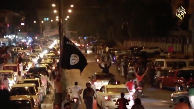 بالفيديو.. أنصار داعش في الموصل يحتفلون بسقوط الرمادي