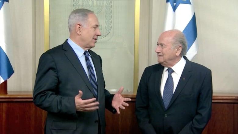 بلاتر يستبق جلسة للبت بإلغاء عضوية إسرائيل بالفيفا بالدعوة للوحدة مع الفلسطينيين