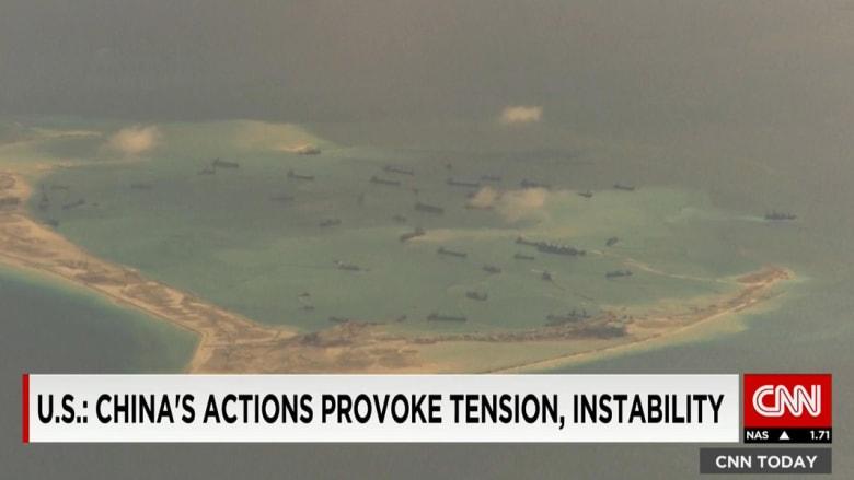 فوق بحر الصين الجنوبي.. طائرة استطلاع أمريكية تكشف جزيرة اصطناعية للجيش الصيني