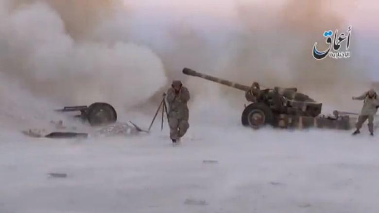 شاهد.. فيديو يظهر مهاجمة عناصر داعش لكوباني بالقذائف والصواريخ