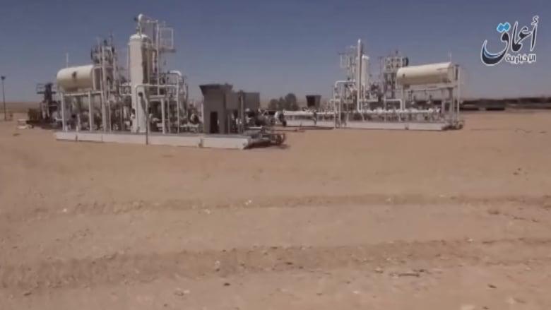 """""""داعش"""" ينشر فيديو لسيطرته على شركة وحقل للغاز في ريف حمص"""
