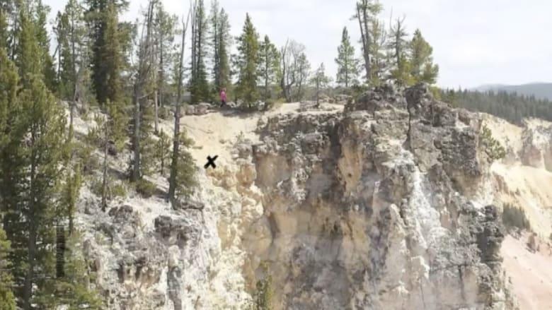 شاهد أعجوبة انقاذ سائح 71 عاما من هاوية بعمق 1200 قدم سقط فيها أثناء التقاط صورة