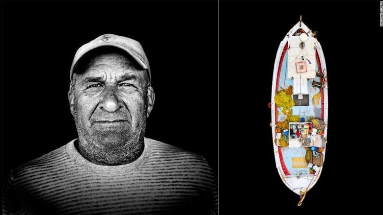 صيادو اليونان يروون قصصهم بوجوه تكافح أمواج البحر