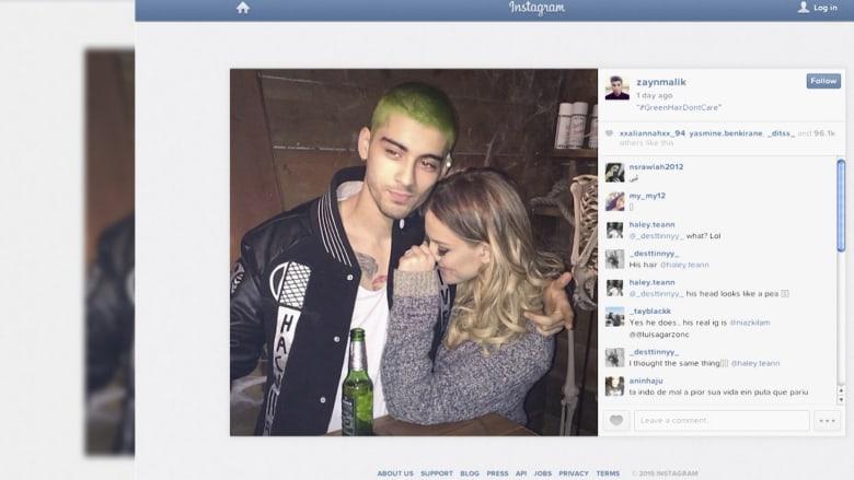 """بالفيديو.. شعر زين مالك يتحول للون الأخضر.. وفيلم """"سباي"""" في المرتبة الأولى"""