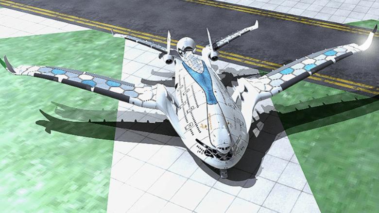 """شكل التصميم الخارجي لطائرة """"بروغريس إيغل"""""""
