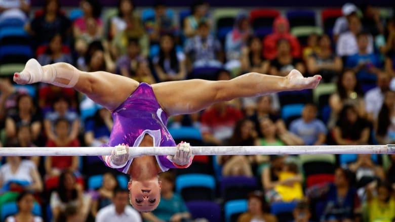 فقرة الجمباز الاستعراضي بدورة الألعاب الأوروبية بباكو