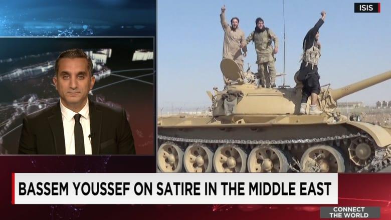باسم يوسف لـCNN: السخرية سلاح قوي في وجه مايقوم به داعش