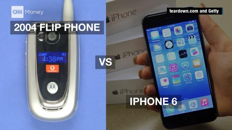 أيهما أكثر كلفة.. آيفون 6 أم هاتف قابل للثني من عام 2004؟