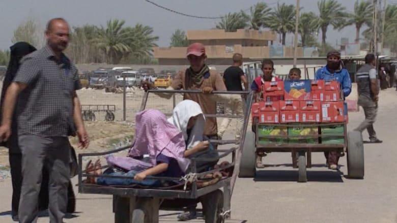"""""""بزيبز"""".. جسر الأحزان الذي يحكي معاناة آلاف النازحين العراقيين"""