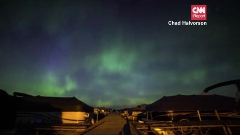 بالفيديو.. الشفق القطبي الشمالي .. أمواج من الضوء الملون