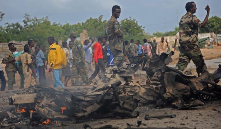 """""""الشباب الصومالي"""" يشن هجوما على قوات الاتحاد الأفريقي ويزعم مقتل 50 جنديا"""