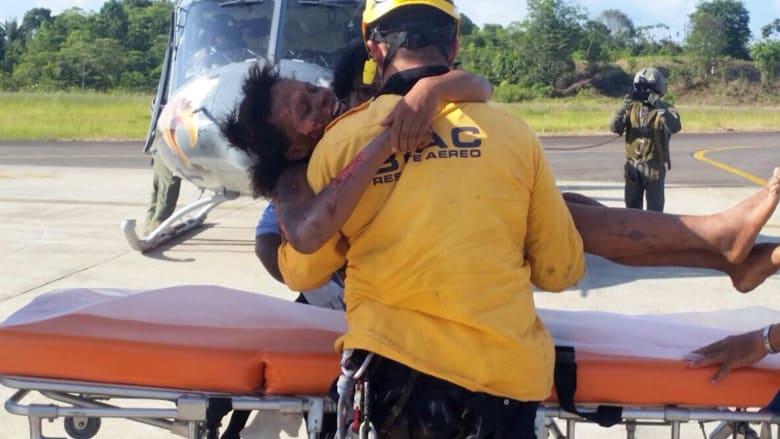 عاطفة الأمومة تنقذ شابة علقت لأيام مع رضيعها بغابة كثيفة بعد تحطم طائرتهما