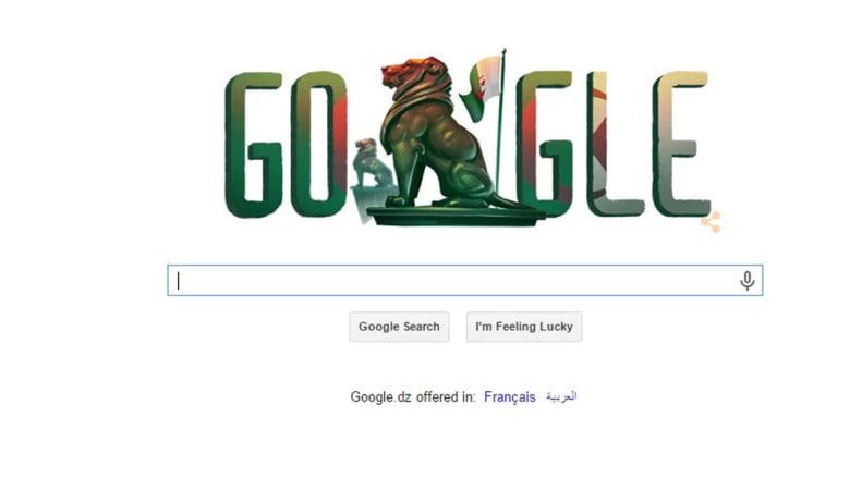 جوجل يحتفل مع الجزائريين بعيد استقلالهم ويضع علمهم في صفحة الاستقبال
