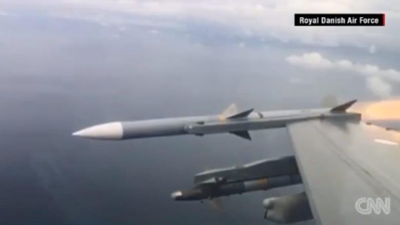 شاهد.. مقاتلة F-16 تدمر طائرة دون طيار