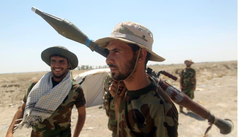 استعدادات قوات الحشد الشعبي شمال الفلوجة